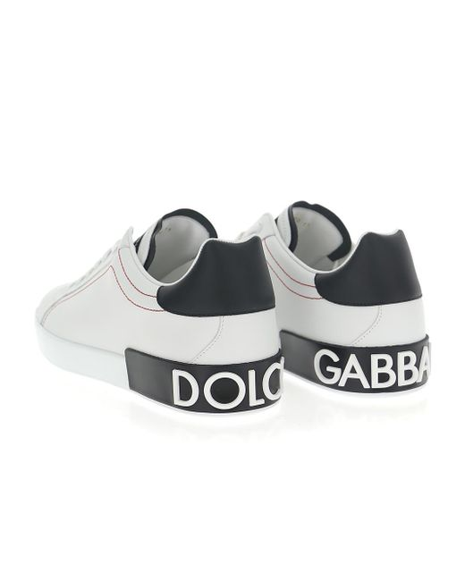 Dolce & Gabbana White Portofino Low-top Sneakers for men