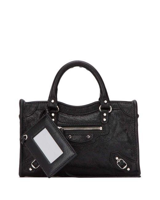 Balenciaga Black Classic City Nano Tote Bag