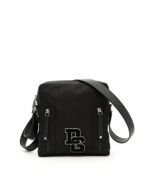 Dolce & Gabbana - Black Medium Dg Patch Messenger Bag for Men - Lyst