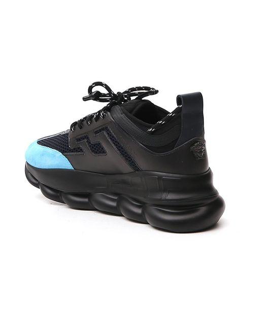 Versace Black Chain Reaction Sneaker for men