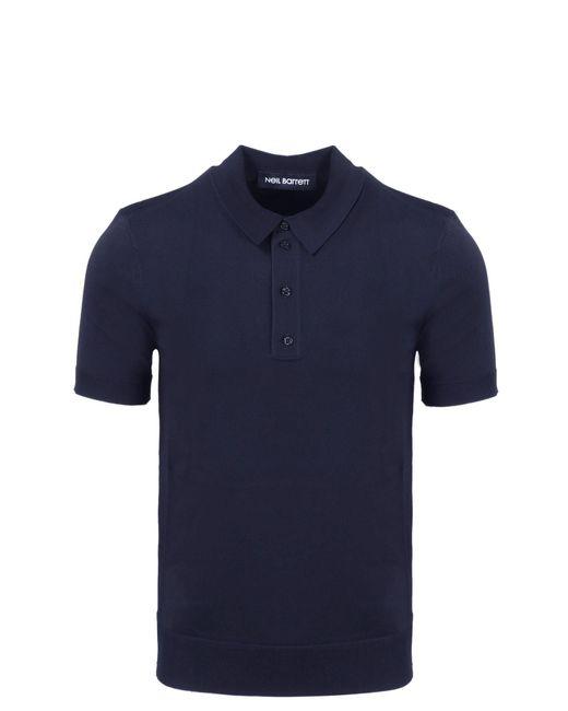 Neil Barrett Blue Classic Polo Shirt for men
