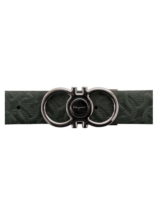 Ferragamo Black Gancini Reversible Belt for men