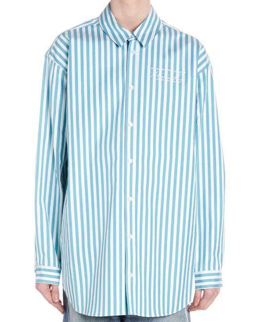 Martine Rose Blue Oversize Shirt for men