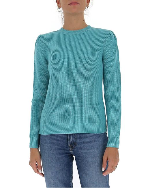 Elisabetta Franchi Blue Shoulder Detail Knitted Jumper