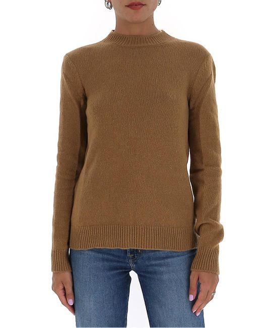 Marni Brown Crewneck Knitted Sweater