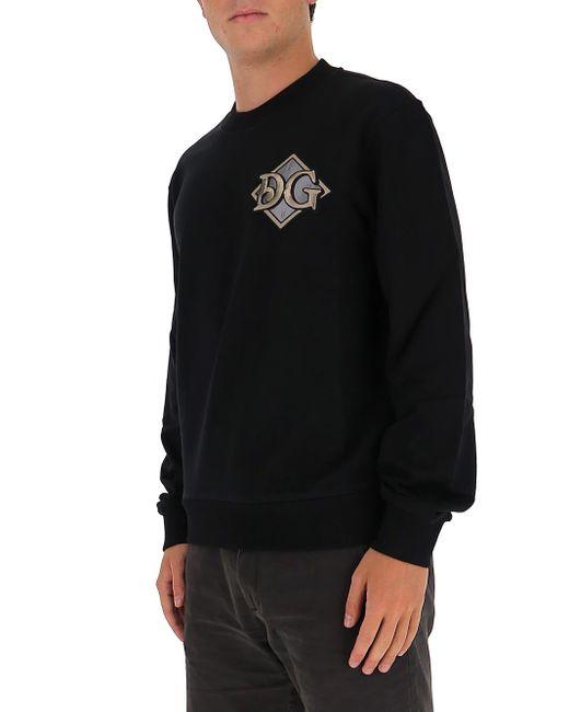 Dolce & Gabbana Black Logo Sweatershirt for men