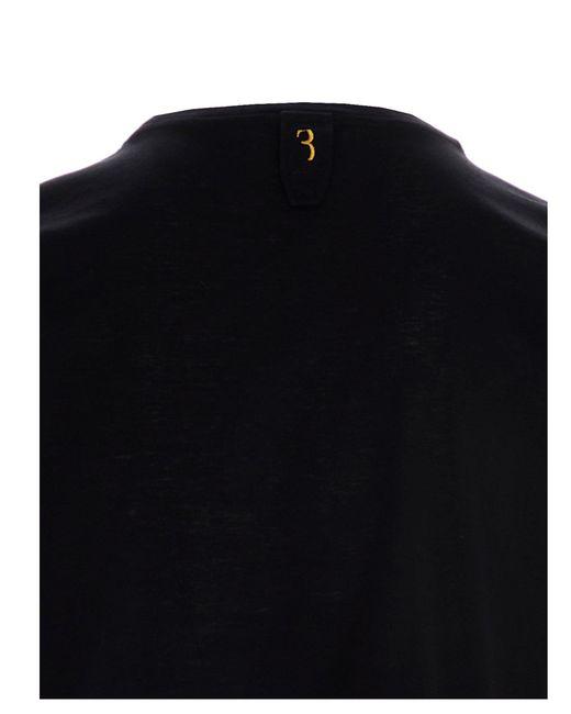 Billionaire Black Double B T-shirt for men