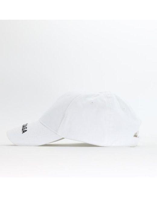 e7e088ad883 Lyst - Balenciaga Logo Baseball Cap in White for Men