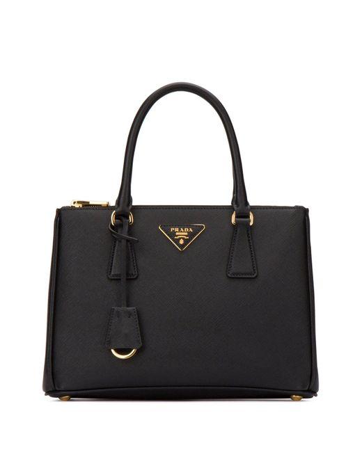 Prada Black Galleria Small Tote Bag