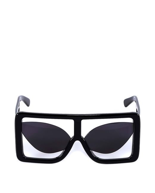 ef08493a801 Lyst - Gcds Oversized Frame Sunglasses in Black