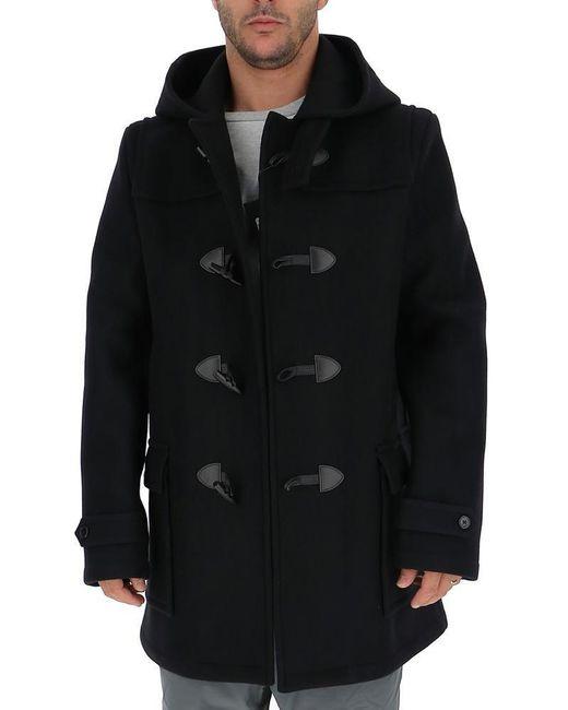 Saint Laurent Black Duffle Coat for men