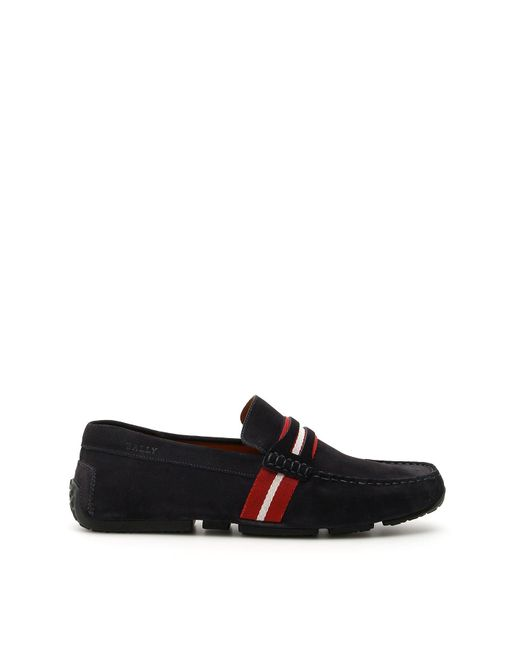 Bally Blue Pietro Driver Loafers for men