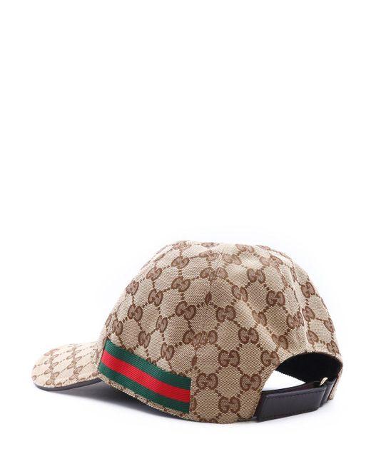 Gucci Natural Gg Canvas Cap