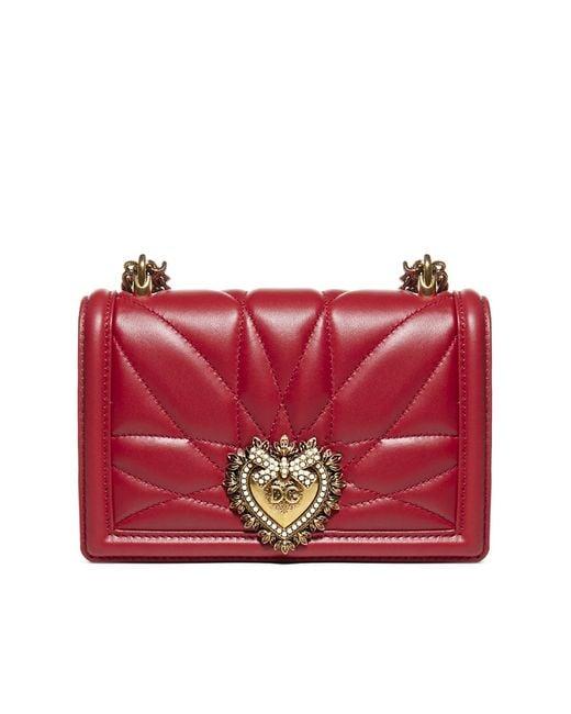 Dolce & Gabbana Red Devotion Small Crossbody Bag