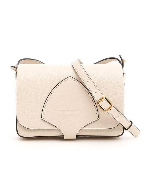 8127a90e9093 Burberry Stitch Detail Small Shoulder Bag in Natural - Lyst