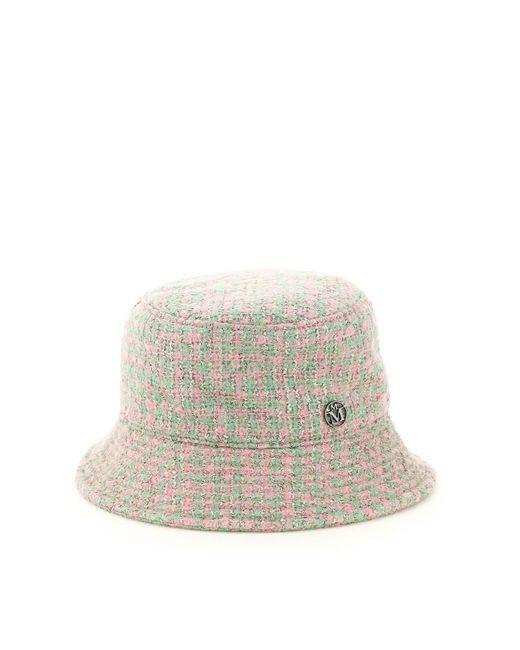 Maison Michel Multicolor Logo Plaque Tweed Bucket Hat