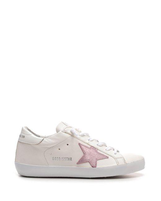 Golden Goose Deluxe Brand White Distressed Superstar Sneakers