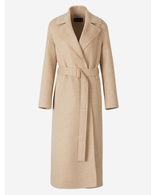 Loro Piana Natural Long Cashmere Coat