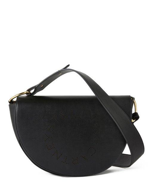 Stella McCartney Black Marlee Logo Shoulder Bag
