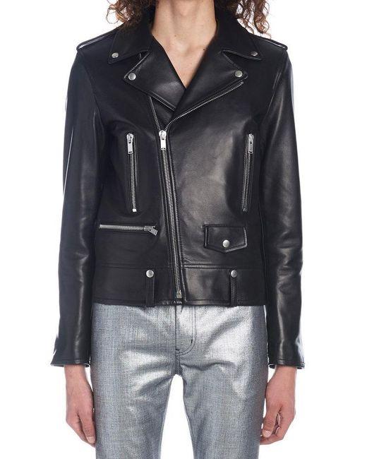 Saint Laurent Black Biker Jacket for men