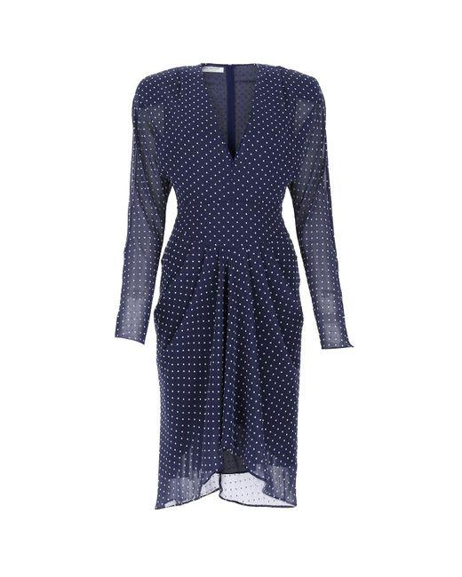 Philosophy Di Lorenzo Serafini Blue Wrap Midi Dress