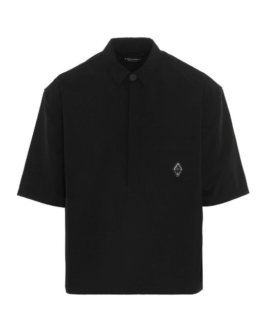 A_COLD_WALL* Black * Logo Patch Polo Shirt for men