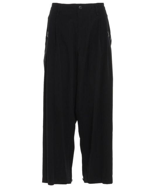 Yohji Yamamoto Black Drop-crotch Trousers for men