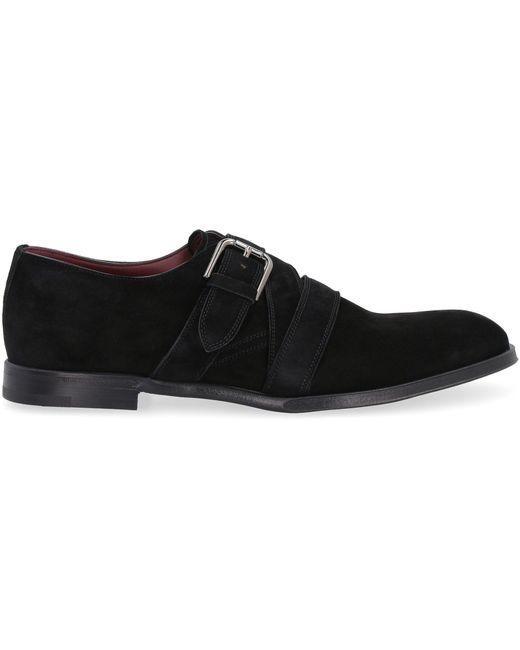 Dolce & Gabbana Black Monk Strap Derby Shoes for men