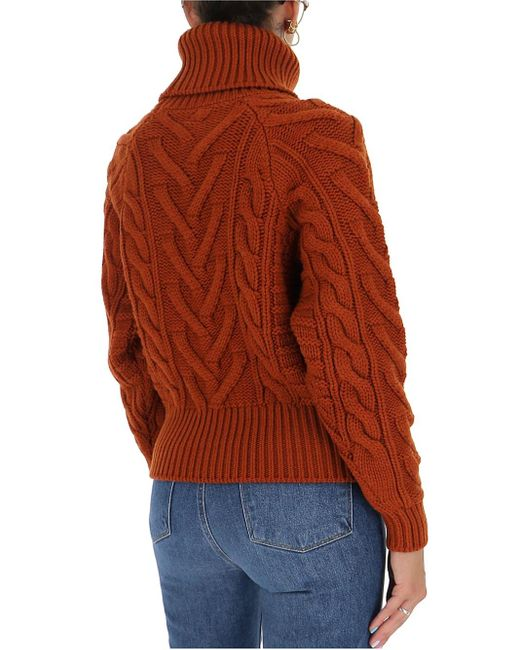Dolce & Gabbana Red High Neck Sweater
