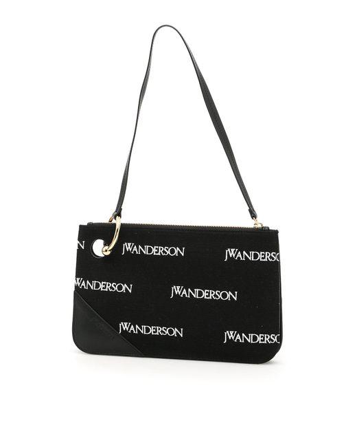 J.W. Anderson - Black Pierced Logo Shoulder Bag - Lyst