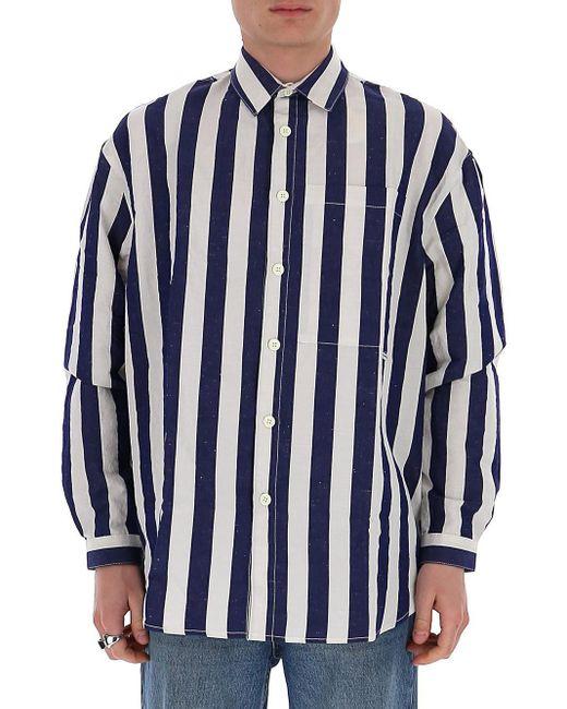 Sunnei Blue Striped Shirt for men