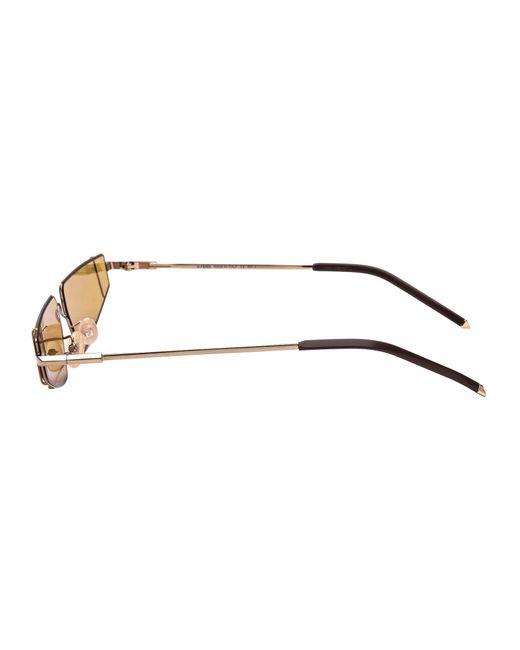 Fendi Metallic Cat Eye Frame Sunglasses