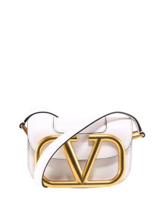 Valentino Garavani White Supervee Small Crossbody Bag