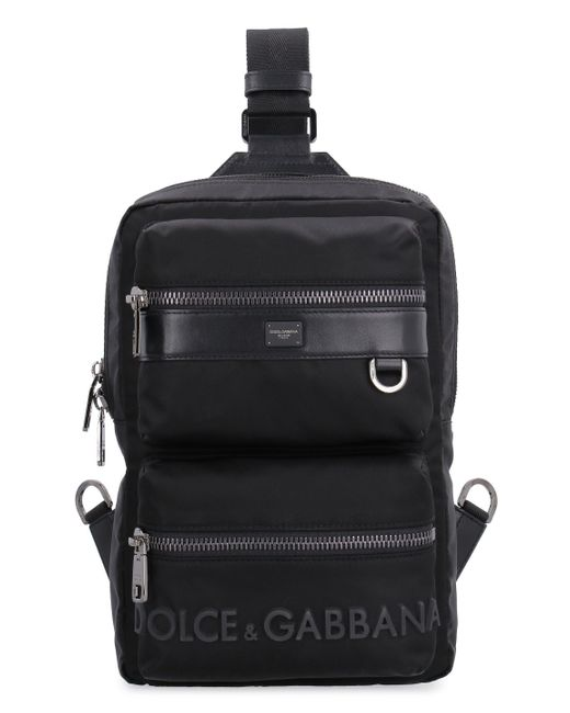 Dolce & Gabbana Black Single Strap Backpack for men