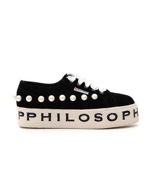 Philosophy Di Lorenzo Serafini - Black X Superga Pearl Philosophy Sneakers - Lyst