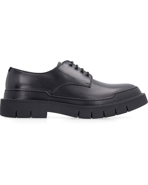 Ferragamo Black Derby Shoes for men