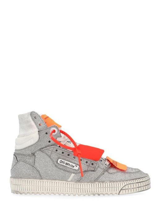 Off-White c/o Virgil Abloh Gray Off Court High Top Sneakers