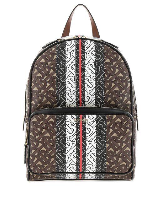 Burberry Multicolor Monogram Stripe Print Backpack