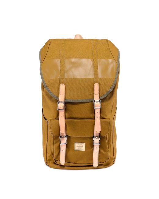 Herschel Supply Co. Green Buckled Foldover Backpack for men