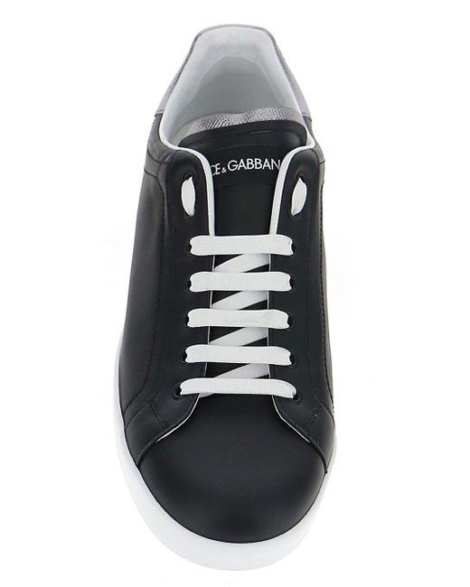 Dolce & Gabbana Black Portofino Sneakers for men