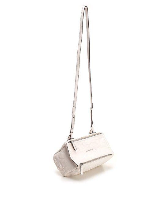 Givenchy White Pandora Mini Crossbody Bag