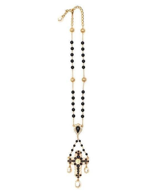 Dolce & Gabbana - Metallic Crucifix Necklace - Lyst