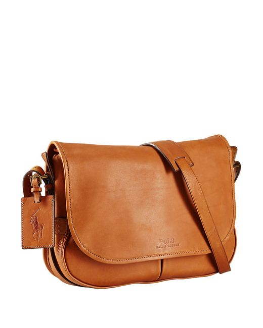 Polo Ralph Lauren | Brown Leather Messenger Bag for Men | Lyst