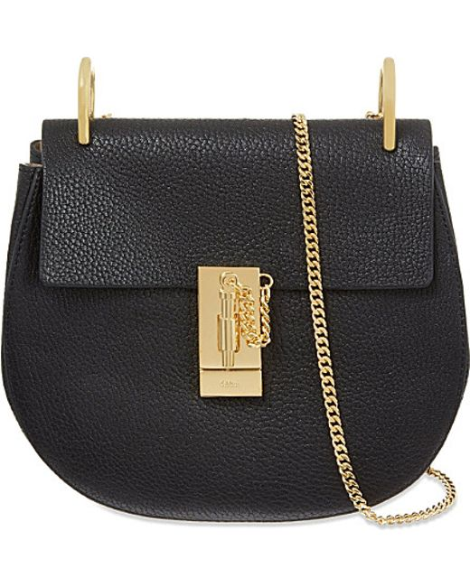 Chloé | Black Drew Mini Leather Cross-Body Bag | Lyst