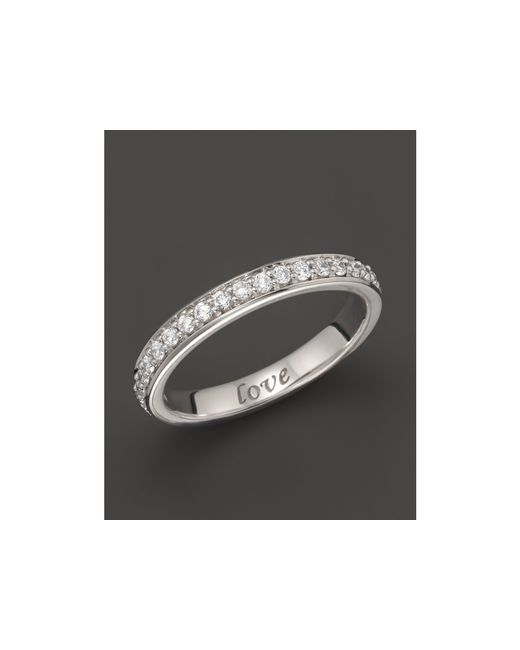 "Monica Rich Kosann | 18k White Gold ""love"" Posey Ring With Diamonds 