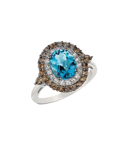 Le Vian | Metallic Swiss Blue Topaz, Smoky Quartz, White Topaz And 14k White Gold Ring | Lyst