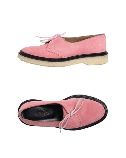 adieu lace up shoes in pink pastel pink save 40 lyst