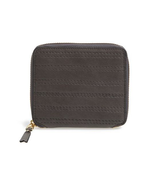 Comme des Garçons | Gray 'embossed Stitch' French Wallet for Men | Lyst