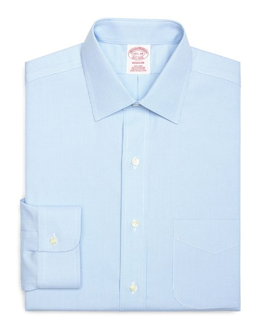 Brooks Brothers | Blue Non-iron Regent Fit Houndstooth Dress Shirt for Men | Lyst