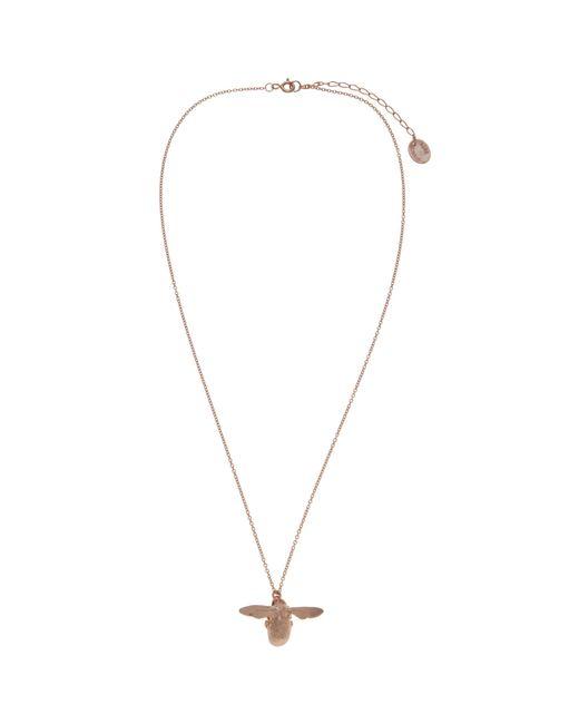 Alex Monroe   Pink 22ct Rose Gold Vermeil Bee Pendant Necklace   Lyst